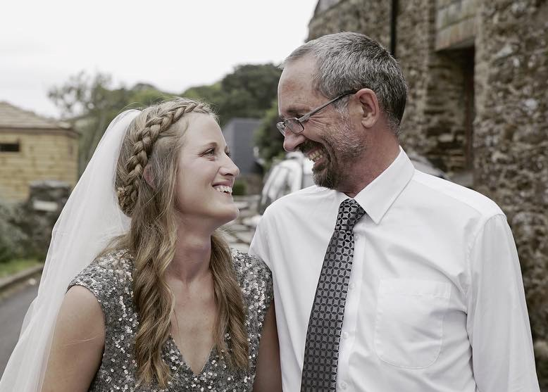 Photograph of John Walter, author of the article and his daughter, Holly.